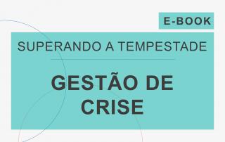 Capa do e-Book da série 'Superando a Tempestade', da Cosin Consulting, sobre 'Gestão de Crise'.