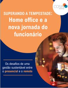 Capa do E-book da série 'Superando a Tempestade', da Cosin Consulting, sobre 'Home Office e a Nova Jornada do Colaborador'