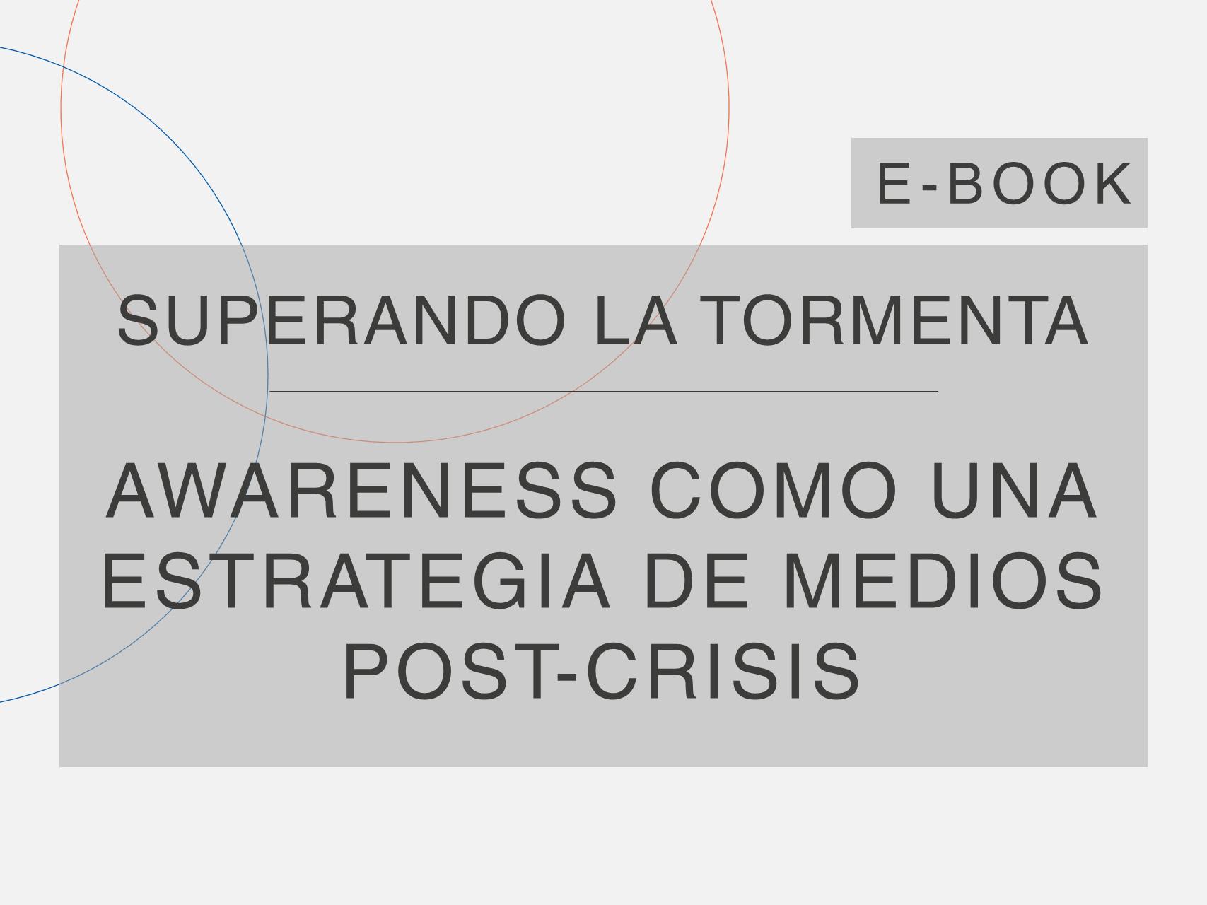 Capa do e-Book da série 'Superando a Tempestade', da Cosin Consulting, sobre 'Awareness como Estratégia de Mídia Pós Crise'