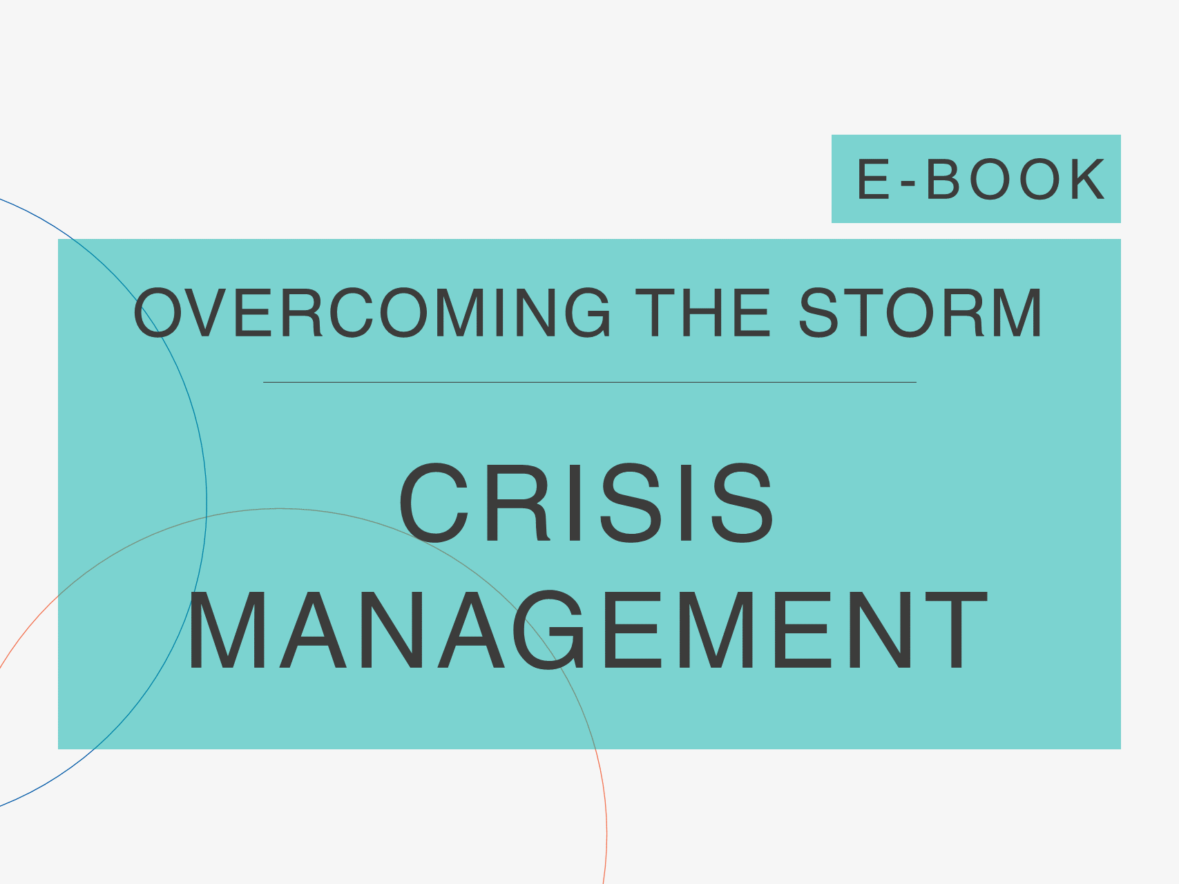 page of Cosin Consulting's 'Overcoming the Storm' e-Book on 'Crisis Management'