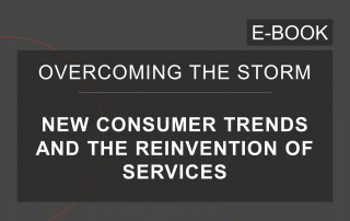 Cover of the e-Book of the series 'Overcoming the Storm', by Cosin Consulting, on 'New Consumer Habits and the Reinvention of Services'