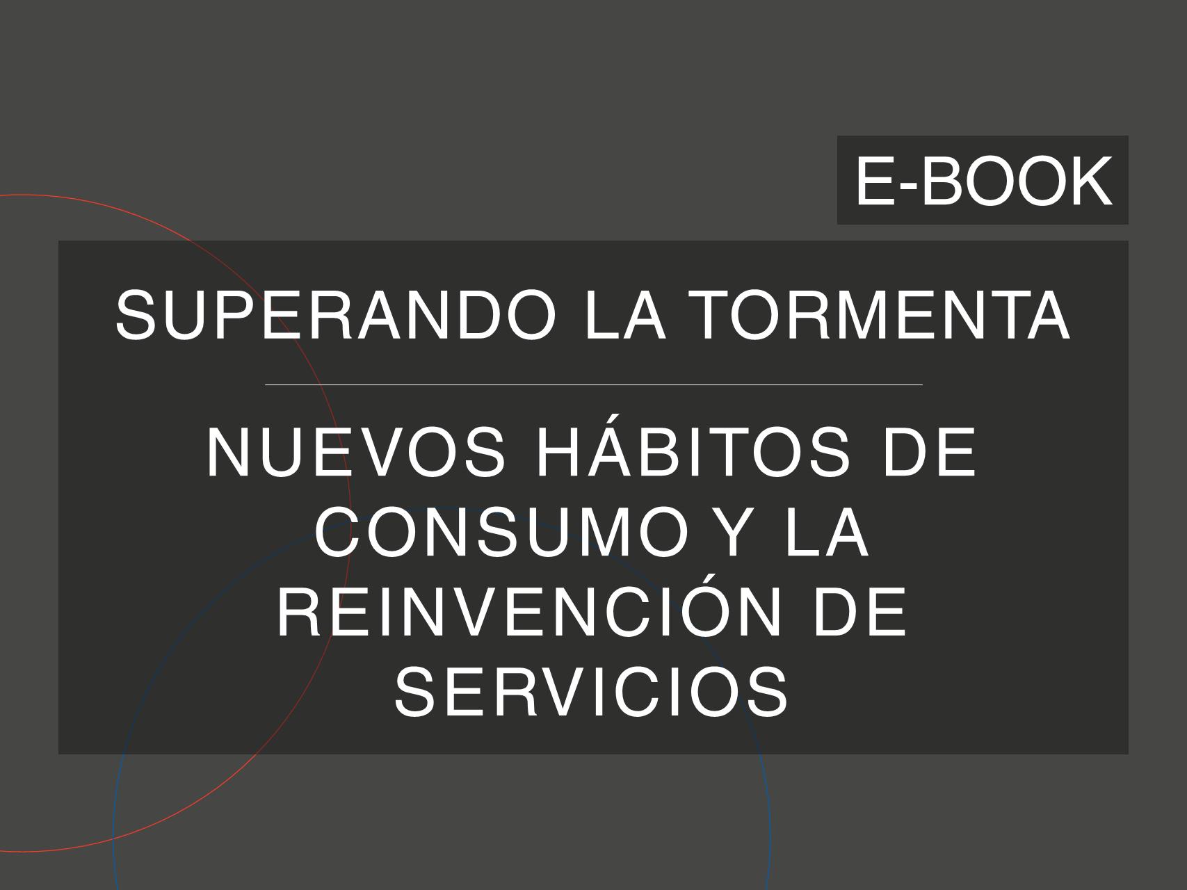 Capa del e-Book da série 'Superando la Tormenta', de Cosin Consulting, sobre 'Nuevos Hábitos de Consumo y la Reinvención de Servicios'