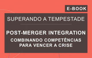 Capa do e-book da série 'Superando a Tempestade', da Cosin Consulting, sobre 'Post-Merger Integration'