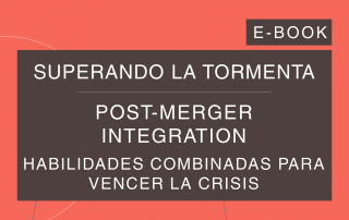 Capa do e-book da série 'Superando a Tempestade', da Cosin Consulting, sobre 'Post-Merger Integration'