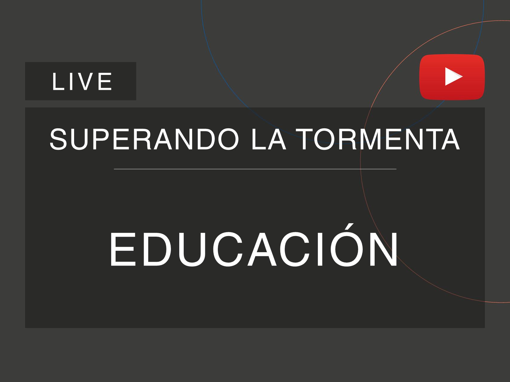 Capa da live da série 'Superando a Tempestade', da Cosin Consulting, sobre Educação