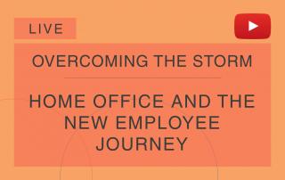Capa ao vivo da série 'Overcoming the Tempest', da Cosin Consulting, sobre 'Home Office and the New Employee's Journey'