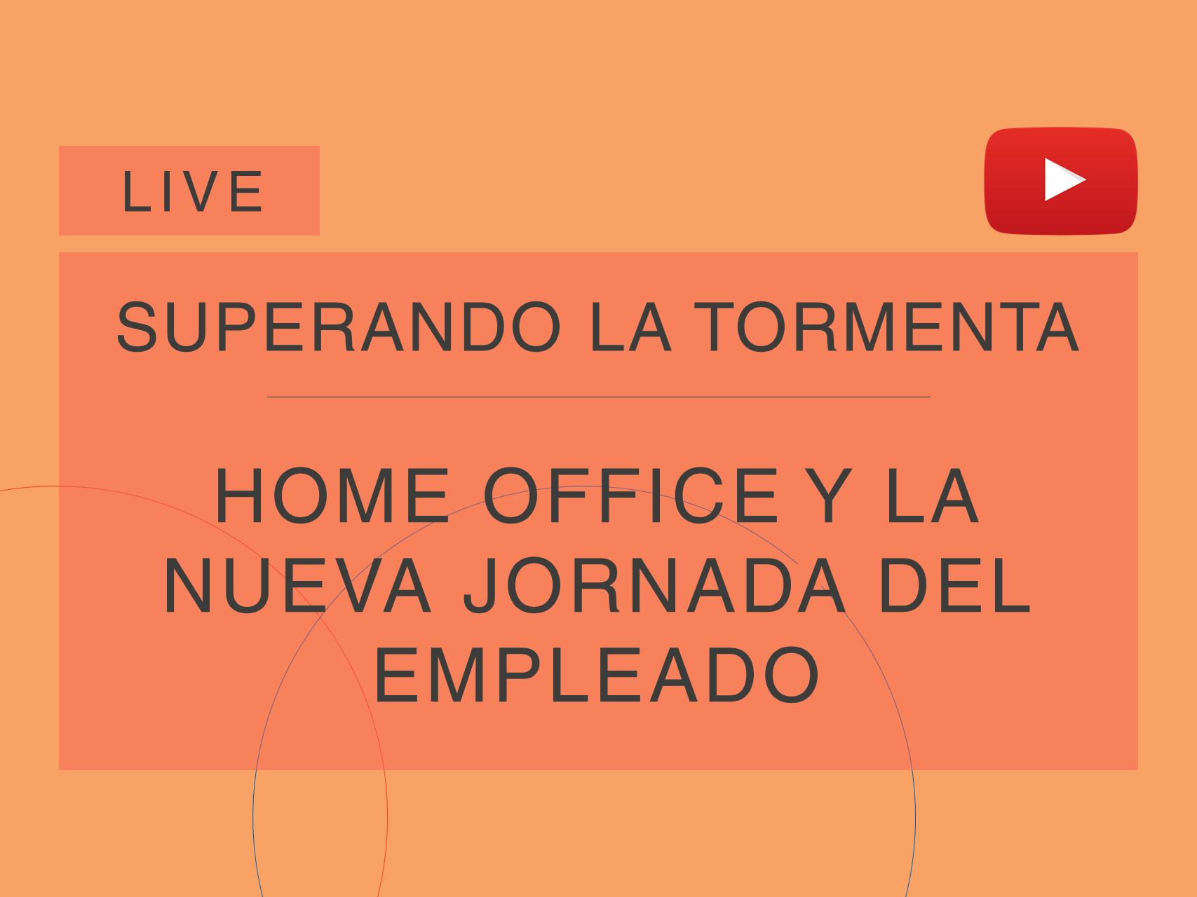 Capa da live da série 'Superando a Tempestade', da Cosin Consulting, sobre 'Home Office e a Nova Jornada do Colaborador'