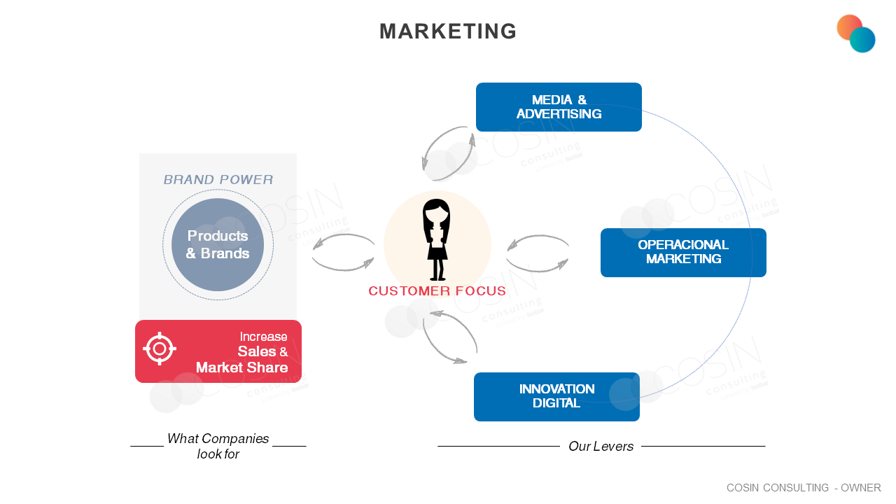 Framework that illustrates Cosin Consulting's vision on Marketing